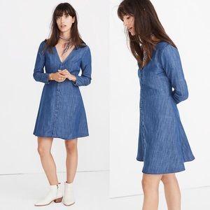 Madewell denim button dress